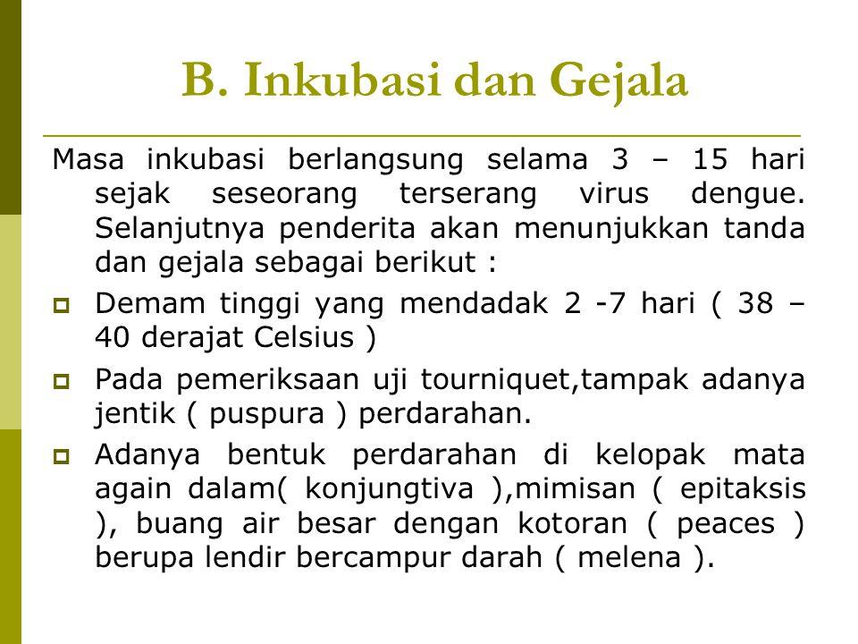 B. Inkubasi dan Gejala