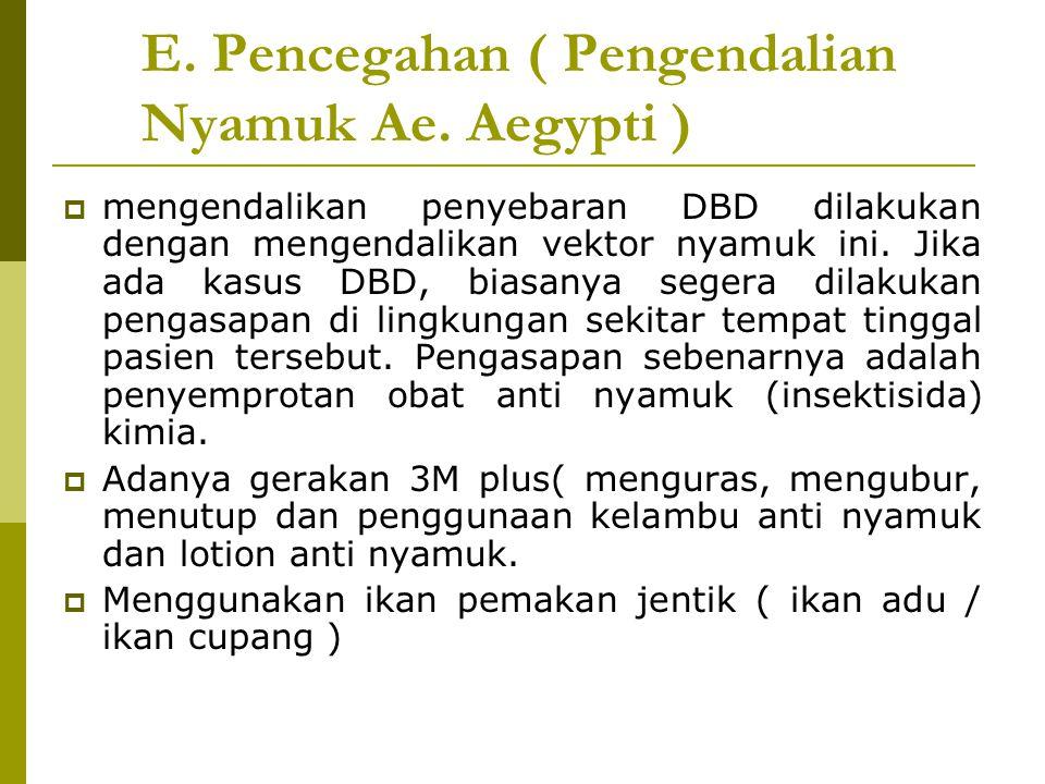 E. Pencegahan ( Pengendalian Nyamuk Ae. Aegypti )