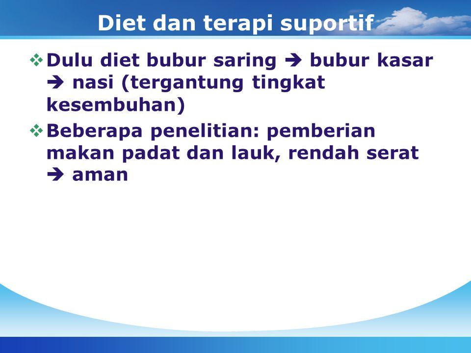 Diet dan terapi suportif
