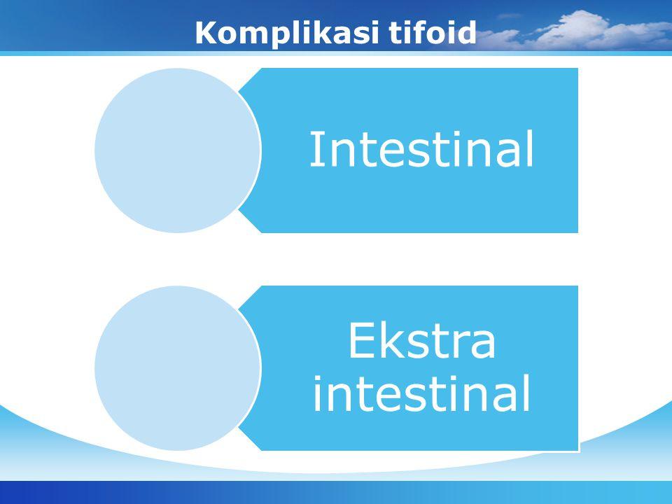 Komplikasi tifoid Intestinal Ekstra intestinal