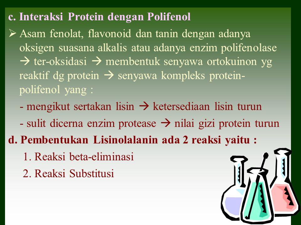 c. Interaksi Protein dengan Polifenol