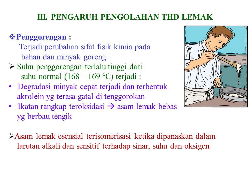 III. PENGARUH PENGOLAHAN THD LEMAK