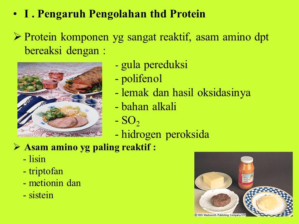 I . Pengaruh Pengolahan thd Protein