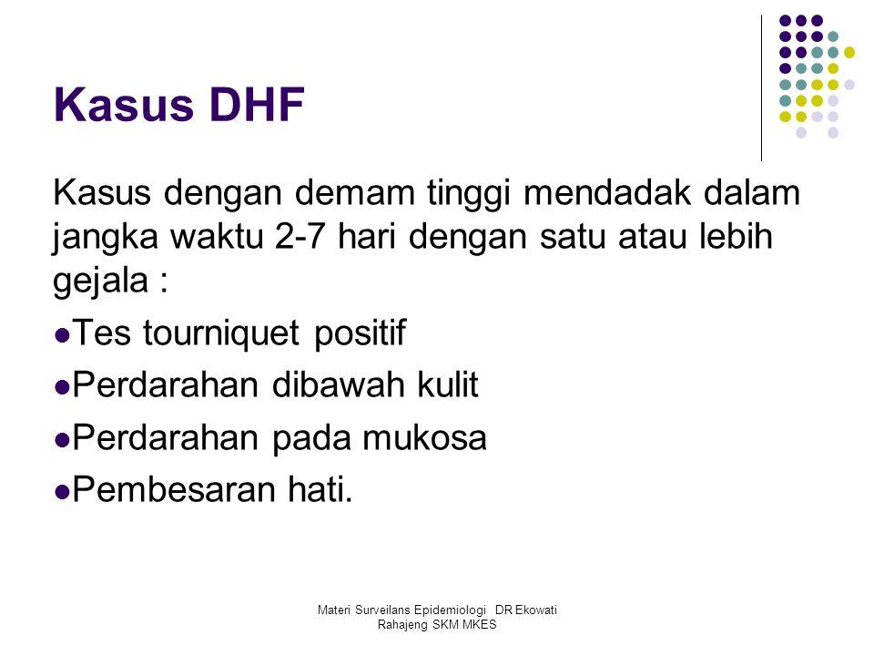 Materi Surveilans Epidemiologi DR Ekowati Rahajeng SKM MKES