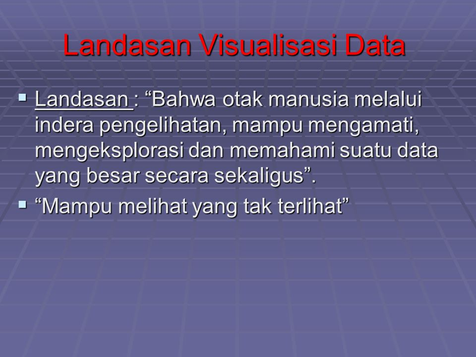 Landasan Visualisasi Data