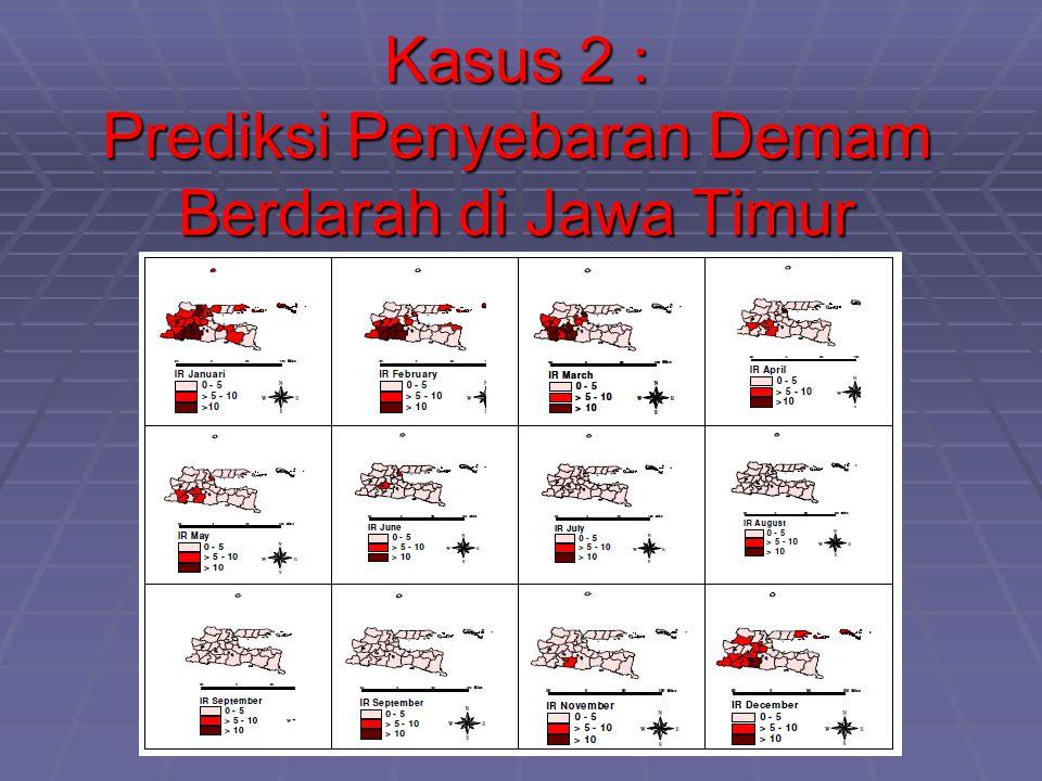Kasus 2 : Prediksi Penyebaran Demam Berdarah di Jawa Timur