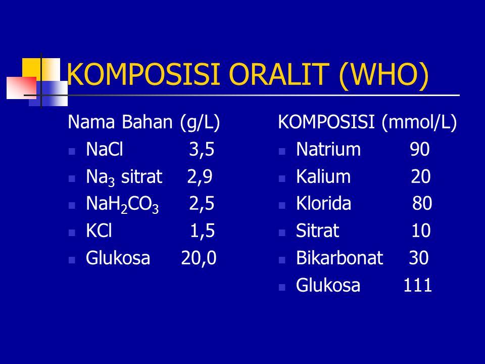 KOMPOSISI ORALIT (WHO)