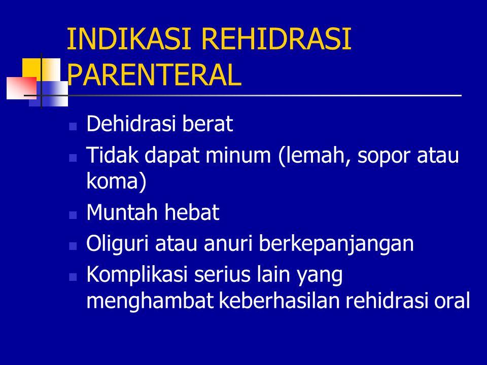 INDIKASI REHIDRASI PARENTERAL