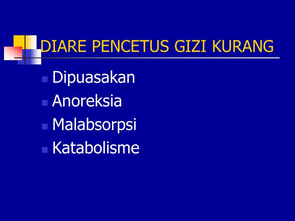 DIARE PENCETUS GIZI KURANG