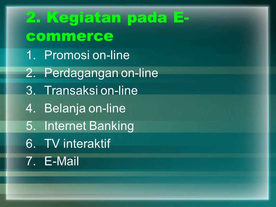 2. Kegiatan pada E-commerce