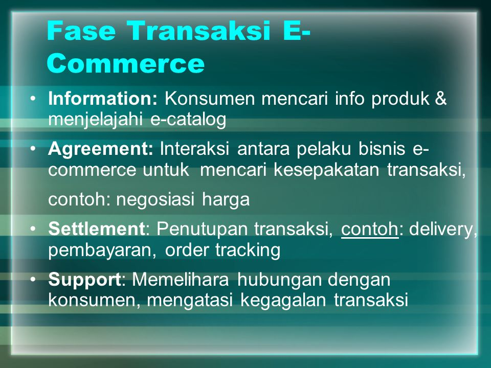 Fase Transaksi E-Commerce