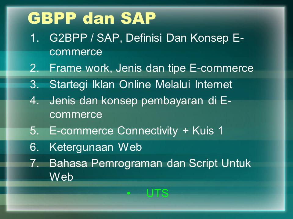 GBPP dan SAP G2BPP / SAP, Definisi Dan Konsep E-commerce