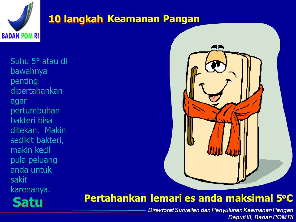 Satu 10 langkah Keamanan Pangan