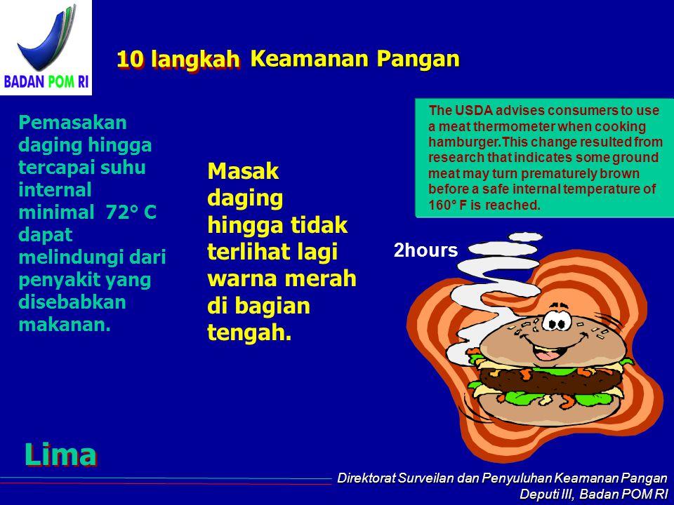 Lima 10 langkah Keamanan Pangan