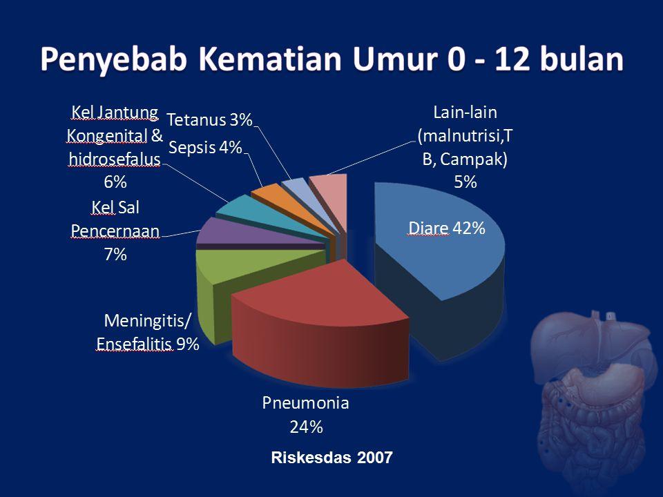 Penyebab Kematian Umur 0 - 12 bulan