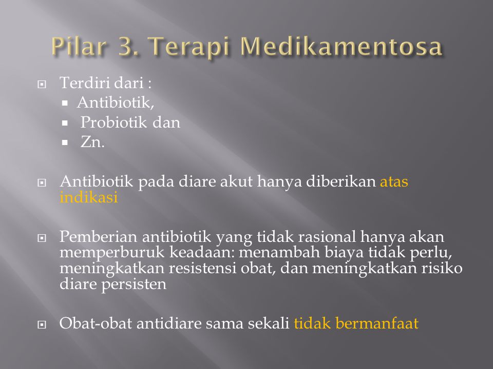 Pilar 3. Terapi Medikamentosa