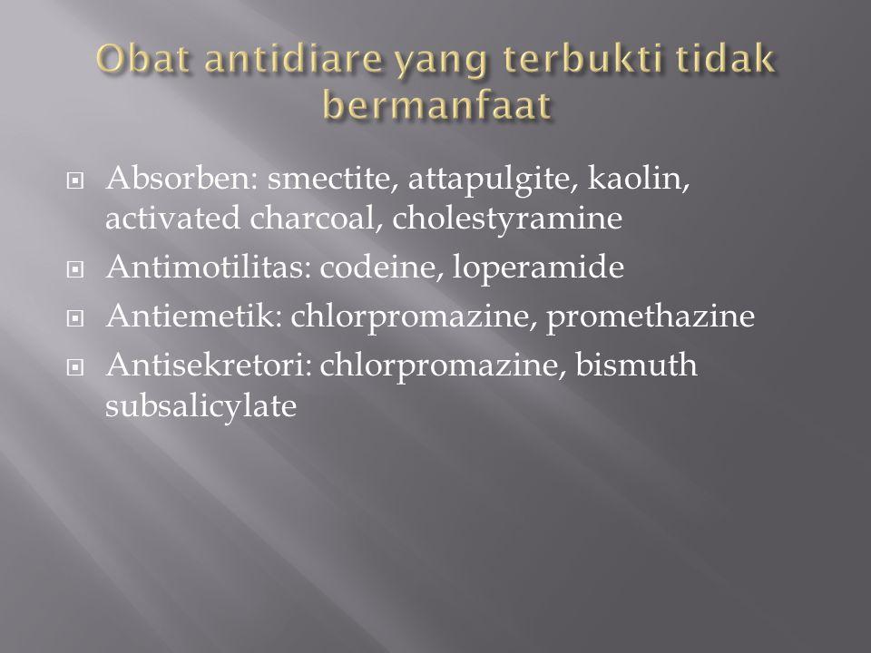 Obat antidiare yang terbukti tidak bermanfaat