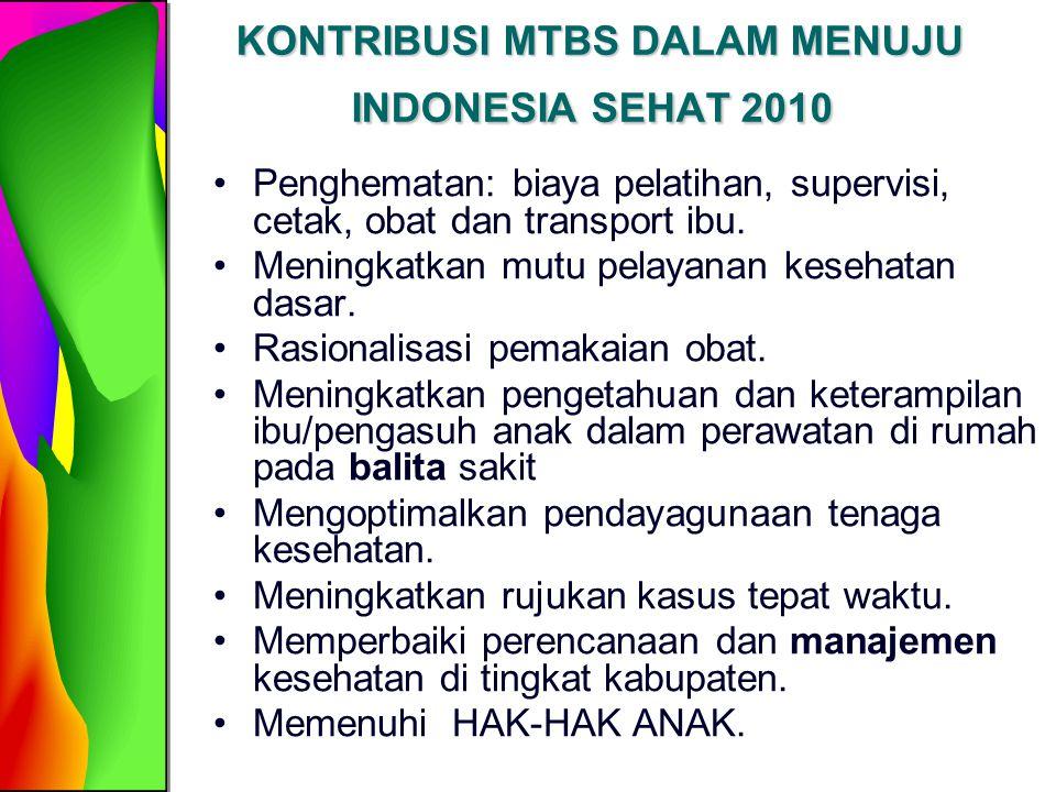 KONTRIBUSI MTBS DALAM MENUJU INDONESIA SEHAT 2010