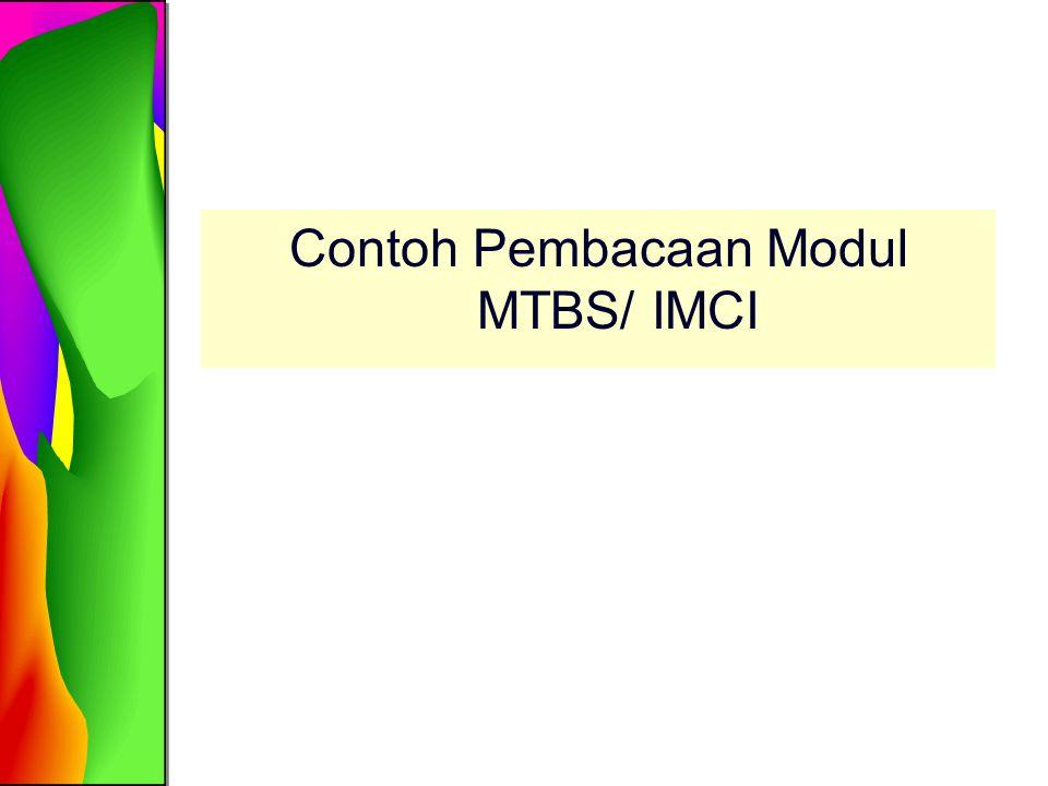 Contoh Pembacaan Modul MTBS/ IMCI