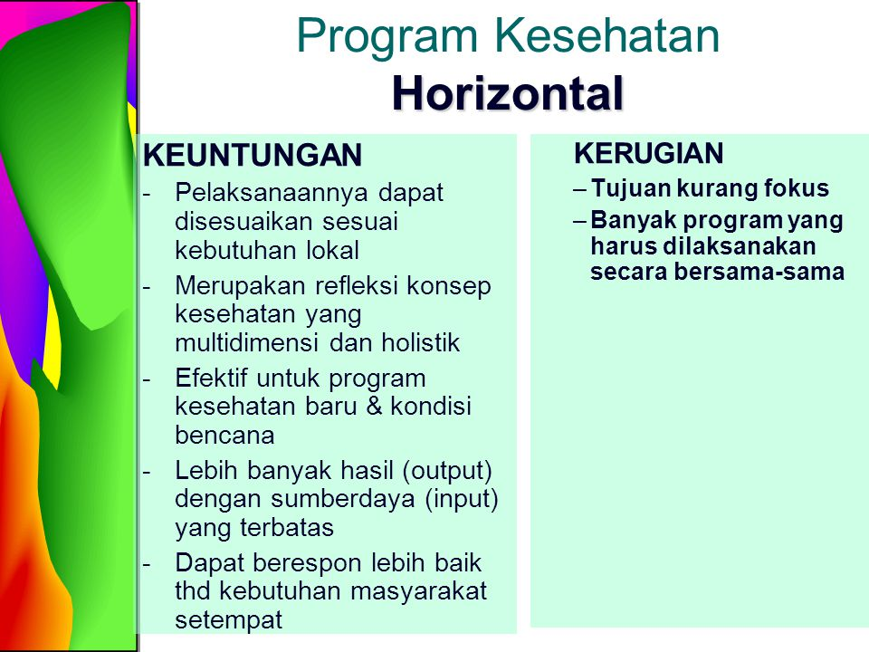 Program Kesehatan Horizontal