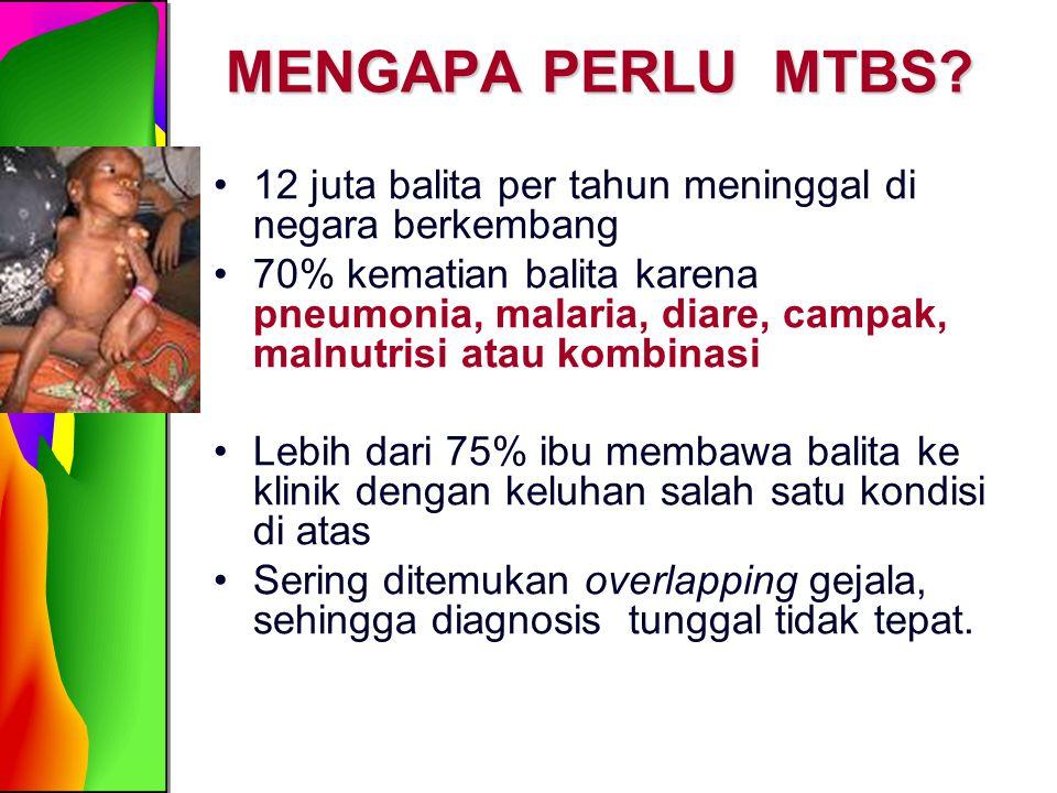 MENGAPA PERLU MTBS 12 juta balita per tahun meninggal di negara berkembang.