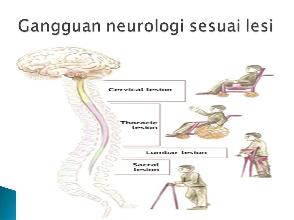 Gangguan neurologi sesuai lesi