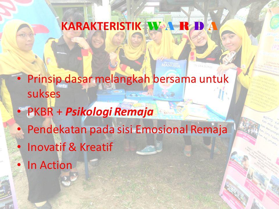 KARAKTERISTIK W A R D A Prinsip dasar melangkah bersama untuk sukses. PKBR + Psikologi Remaja. Pendekatan pada sisi Emosional Remaja.