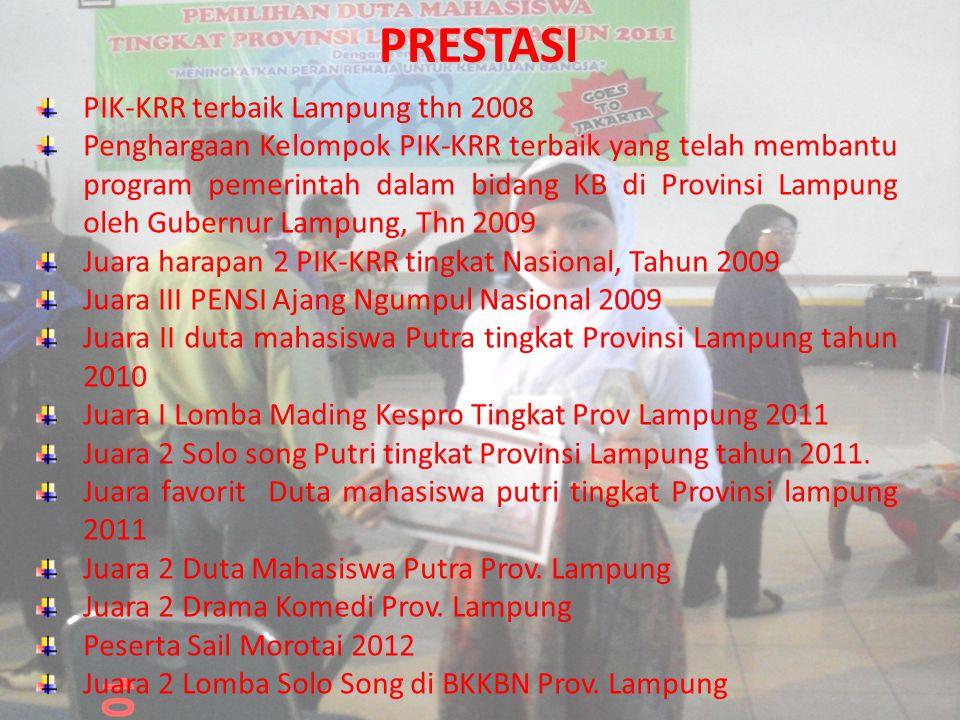 PRESTASI PIK-KRR terbaik Lampung thn 2008