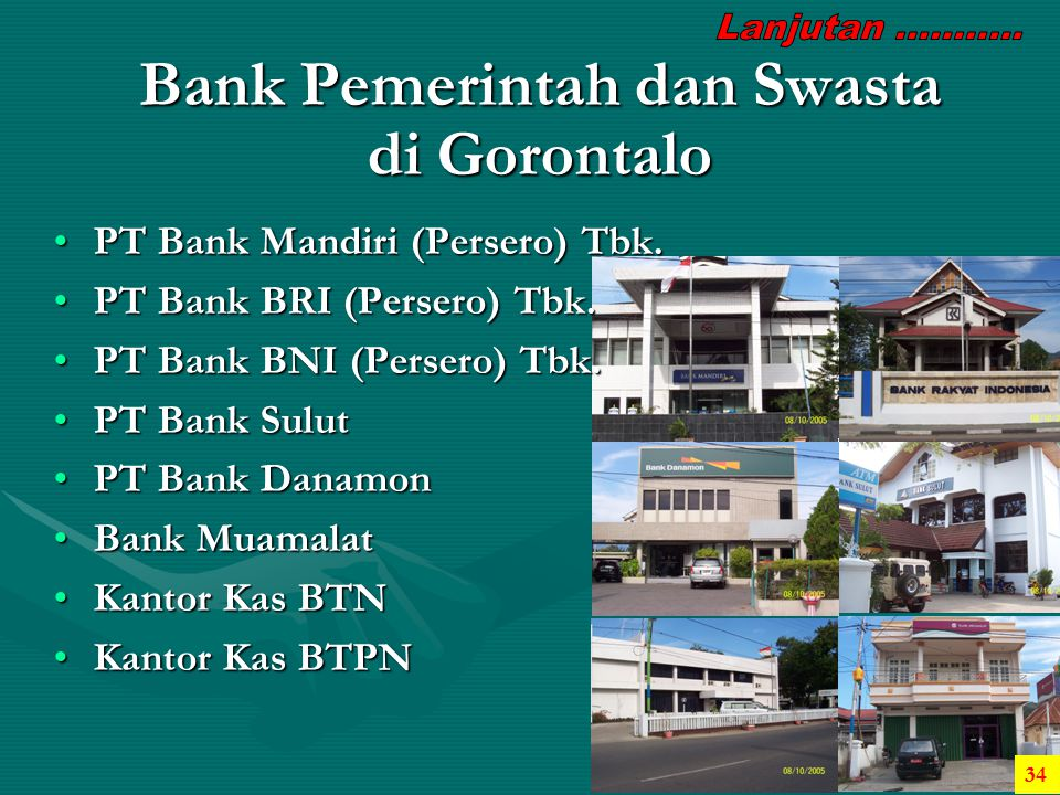 Bank Pemerintah dan Swasta di Gorontalo