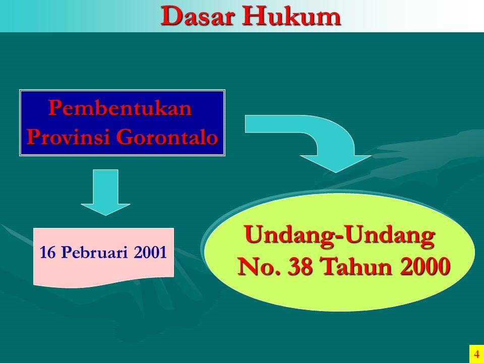 Dasar Hukum Undang-Undang No. 38 Tahun 2000 Pembentukan