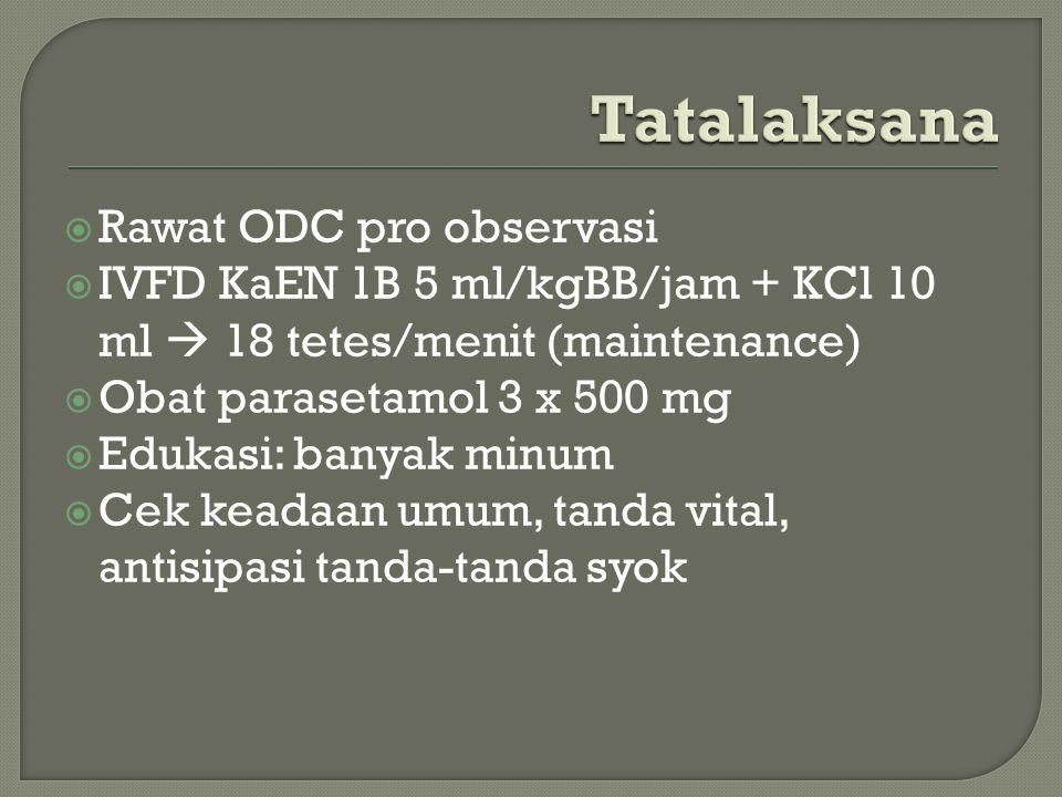 Tatalaksana Rawat ODC pro observasi