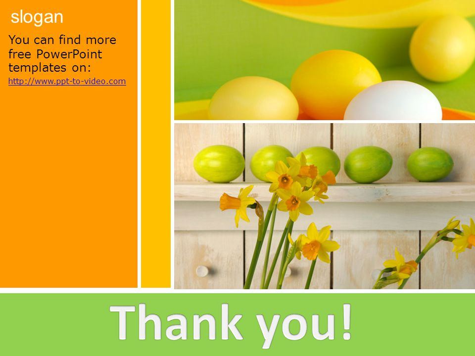 Thank you! You can find more free PowerPoint templates on: