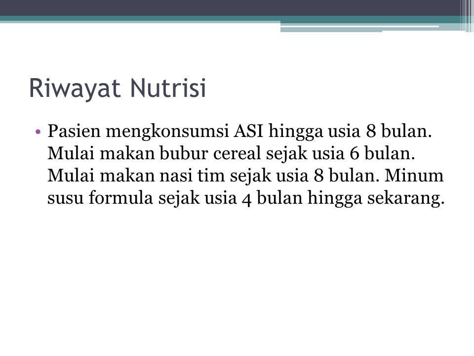 Riwayat Nutrisi