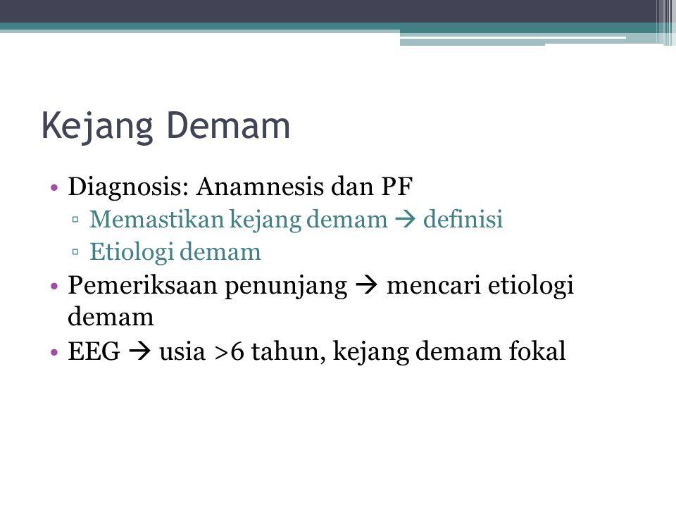 Kejang Demam Diagnosis: Anamnesis dan PF