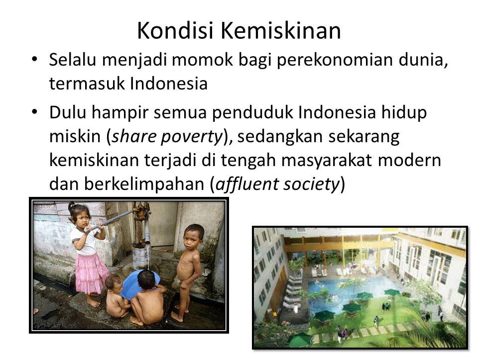 Kondisi Kemiskinan Selalu menjadi momok bagi perekonomian dunia, termasuk Indonesia.