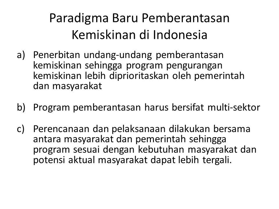 Paradigma Baru Pemberantasan Kemiskinan di Indonesia