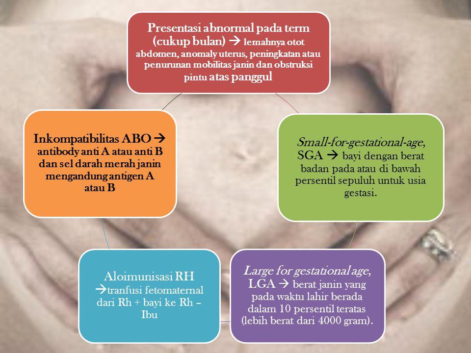 Aloimunisasi RH tranfusi fetomaternal dari Rh + bayi ke Rh – Ibu
