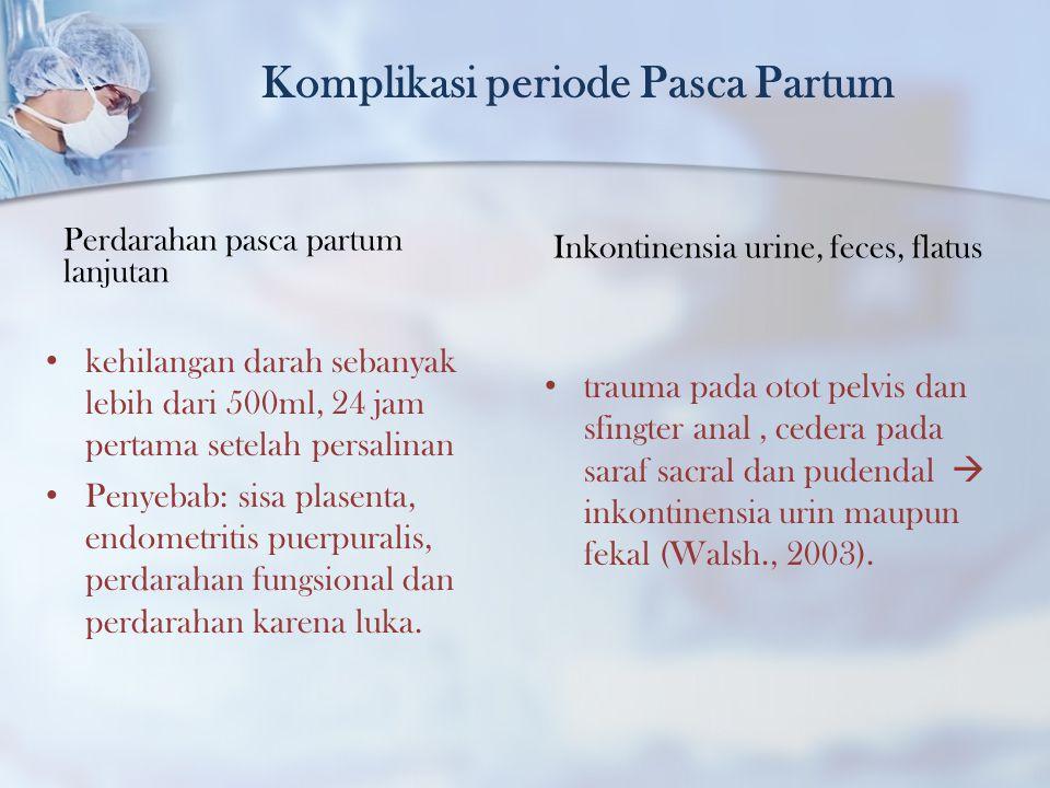 Komplikasi periode Pasca Partum