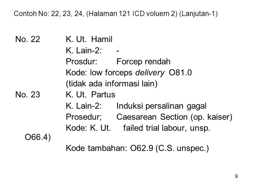 Contoh No: 22, 23, 24, (Halaman 121 ICD voluem 2) (Lanjutan-1)
