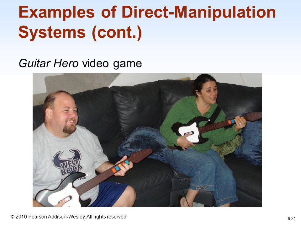 Examples of Direct-Manipulation Systems (cont.)