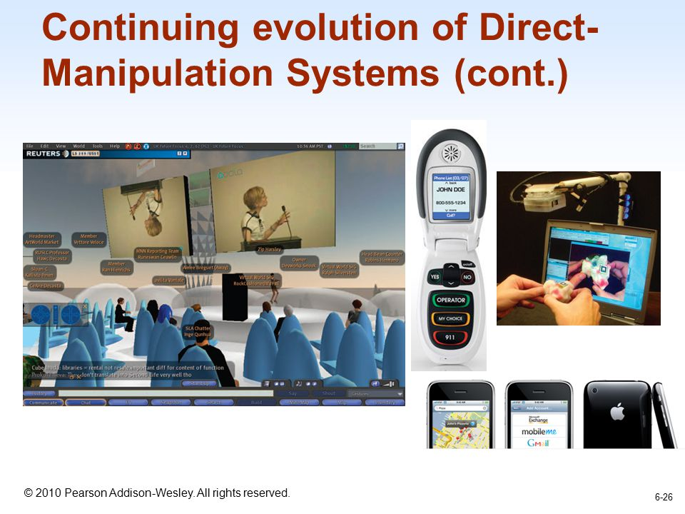 Continuing evolution of Direct-Manipulation Systems (cont.)