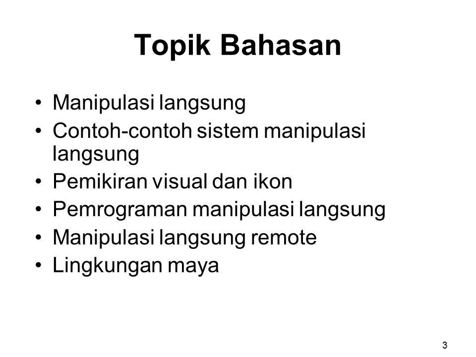 Topik Bahasan Manipulasi langsung