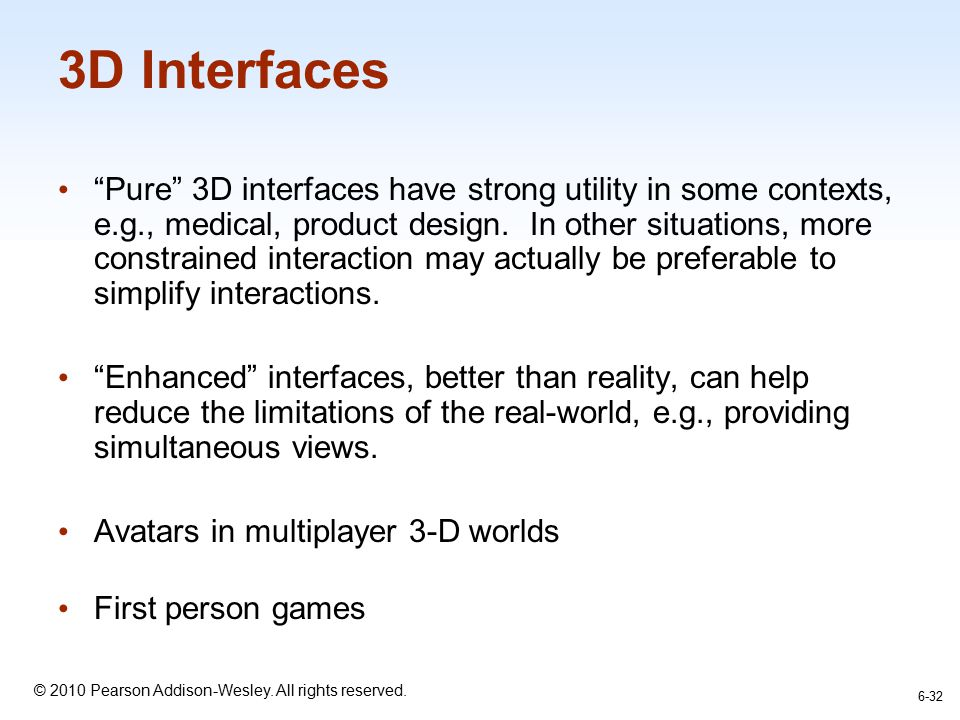 3D Interfaces