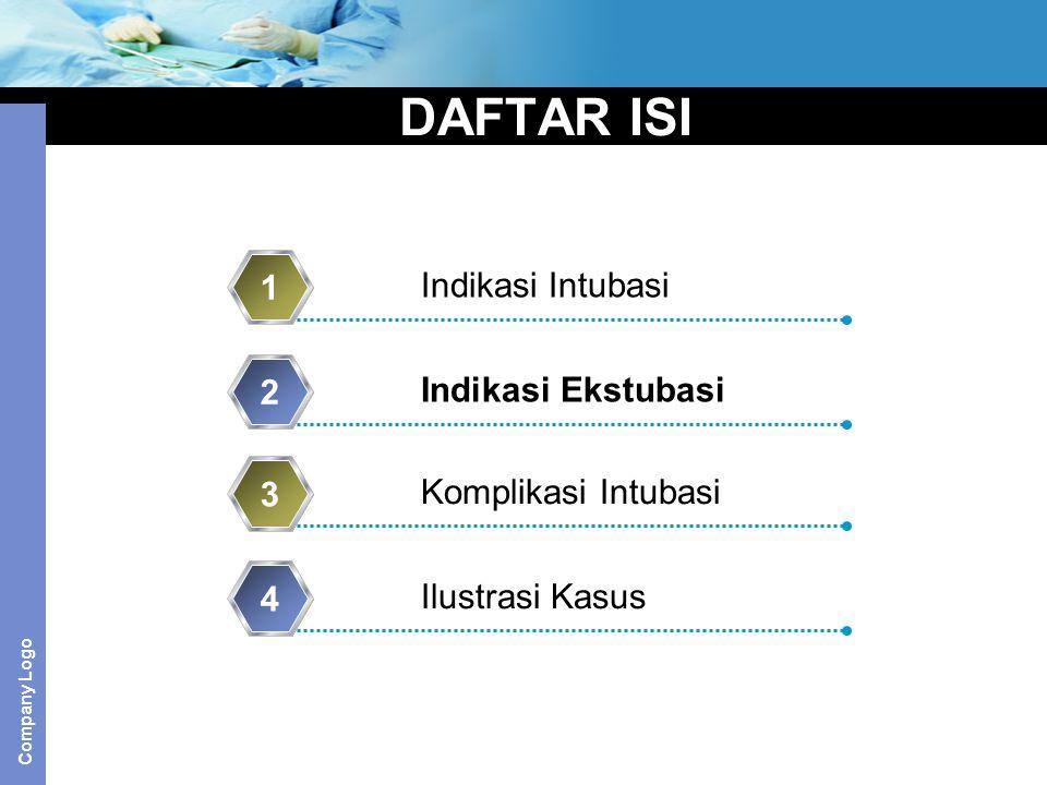 DAFTAR ISI 1 Indikasi Intubasi 2 Indikasi Ekstubasi 3
