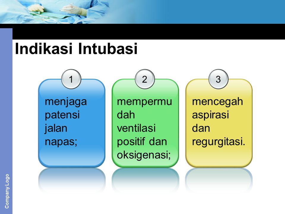 Indikasi Intubasi menjaga patensi jalan napas;