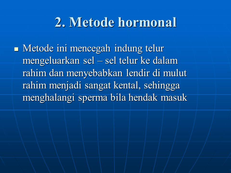 2. Metode hormonal