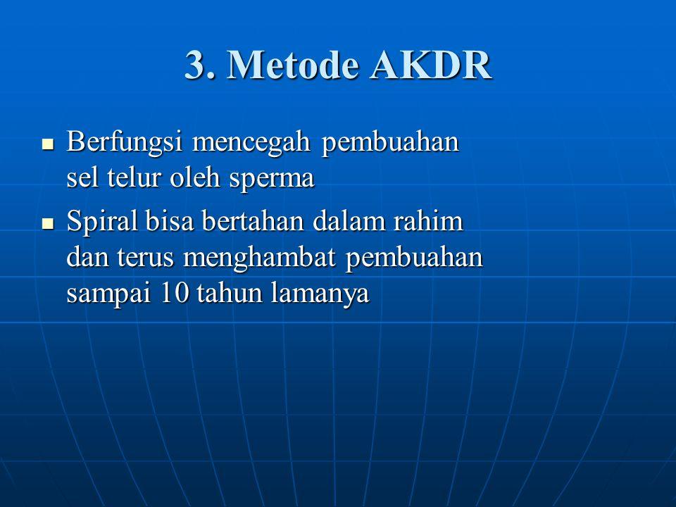 3. Metode AKDR Berfungsi mencegah pembuahan sel telur oleh sperma