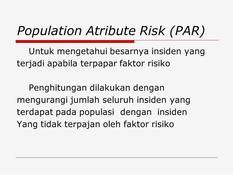 Population Atribute Risk (PAR)