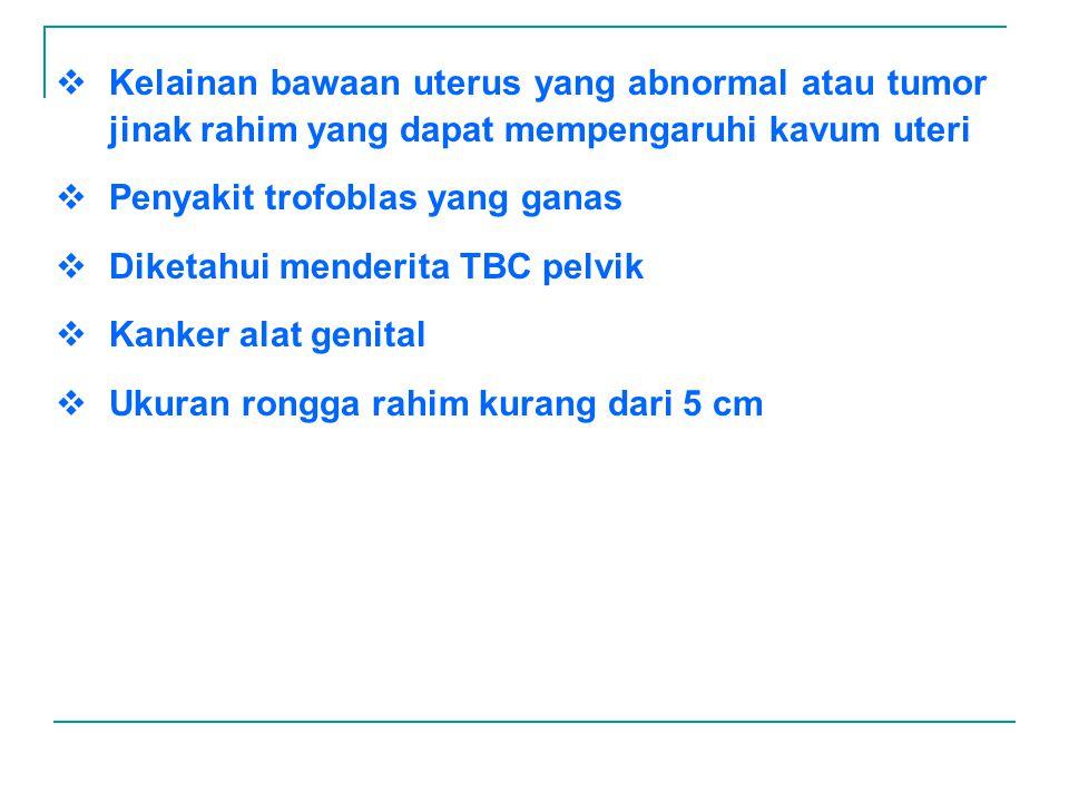 Kelainan bawaan uterus yang abnormal atau tumor