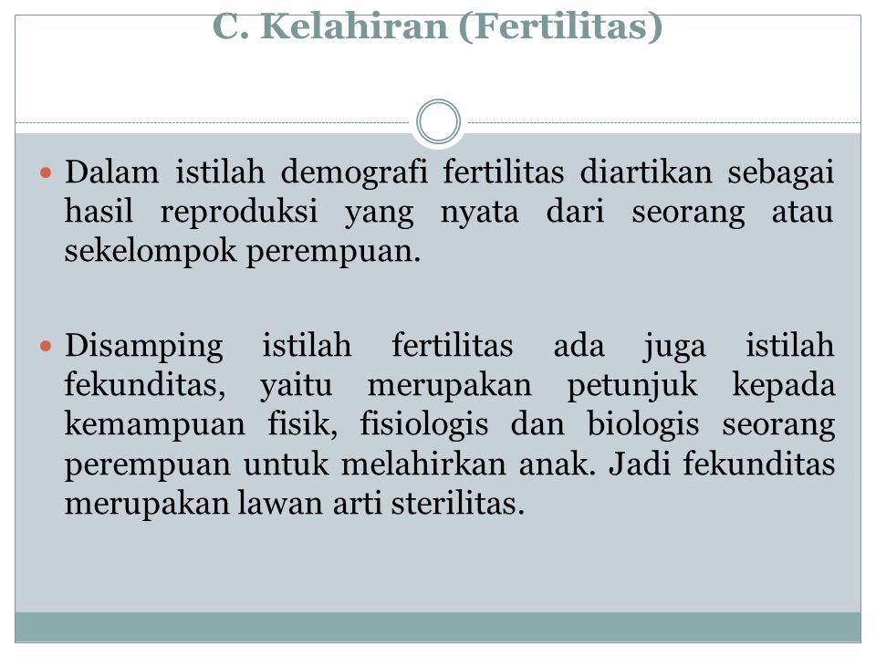 C. Kelahiran (Fertilitas)